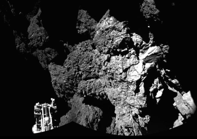La surface de la comète
