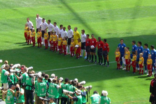 L'équipe nationale du Paraguay, lors de la Coupe du monde 2006.