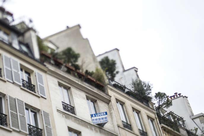 Un appartement à louer dans le 2e arrondissement de Paris.