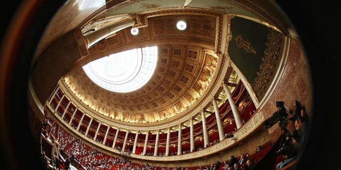 Vue de l'Assemblée nationale, à Paris.