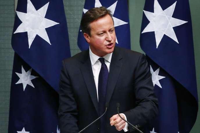 David Cameron s'est exprimé sur sa future loi antiterroriste devant le Parlement australien, vendredi.