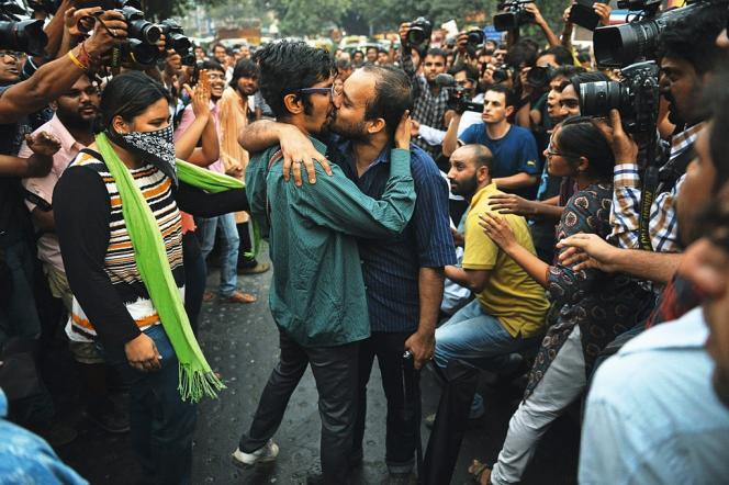 Manifestation étudiante à New Delhi, le 8 novembre.