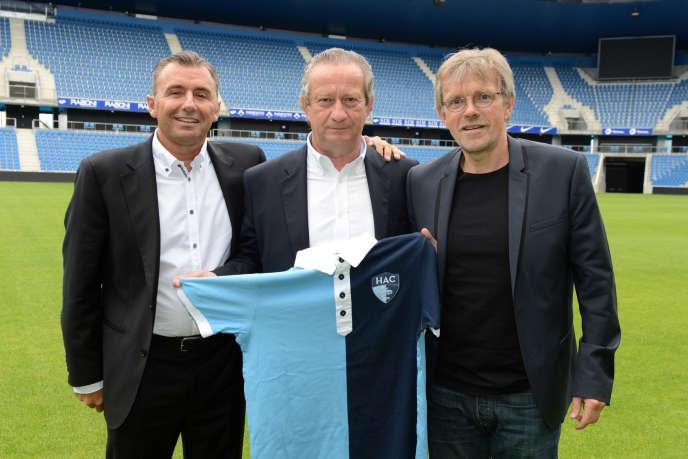 Christophe Maillol (à gauche), le président du club Jean-Pierre Louvel et Jean-Christophe Thouvenel.