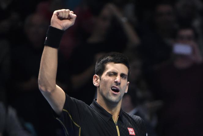 Novak Djokovic, ici le 15 novembre, au Masters de Londres.