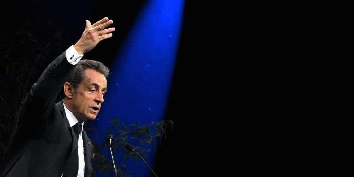 Nicolas Sarkozy lors du meeting de