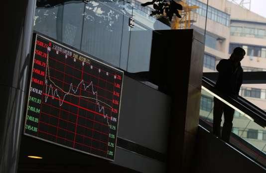 La Bourse de Shanghaï a ouvert en hausse de 1 % lundi 13 juillet.