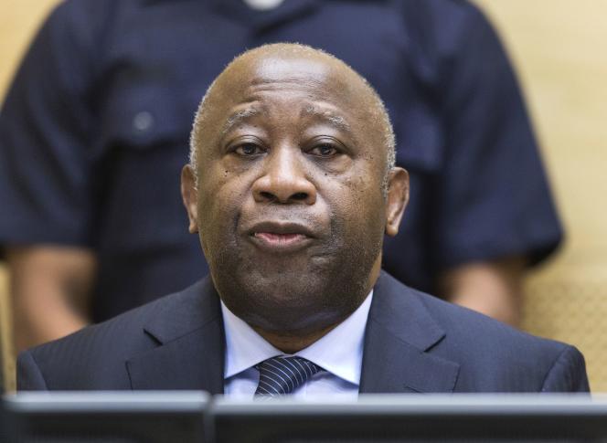 L'ex-président de la Côte d'Ivoire Laurent Gbagbo, le 19février2013, à la Cour pénale internationale de La Haye.