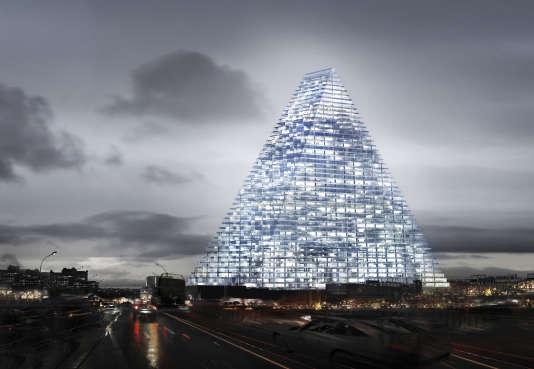 Image du projet de la tour Triangle,dessinée par l'agence d'architecture suisse Herzog &de Meuron.