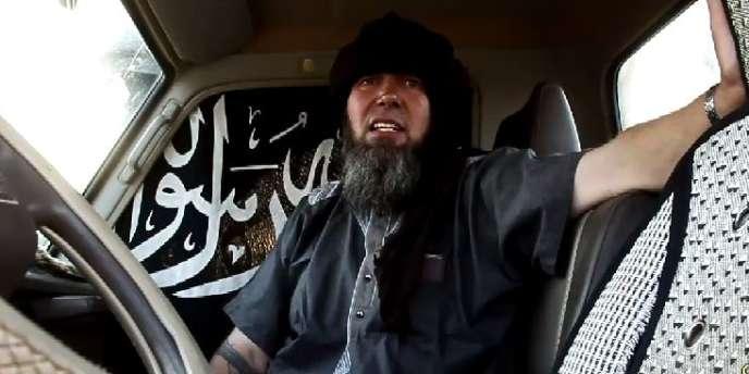 Capture d'écran d'une vidéo diffusée par AQMI le 17 novembre et montrant l'otage français Serge Lazarevic.