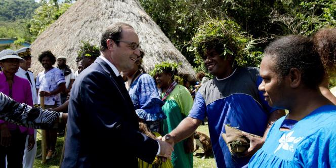 François Hollande en Nouvelle Calédonie, le 17 novembre.