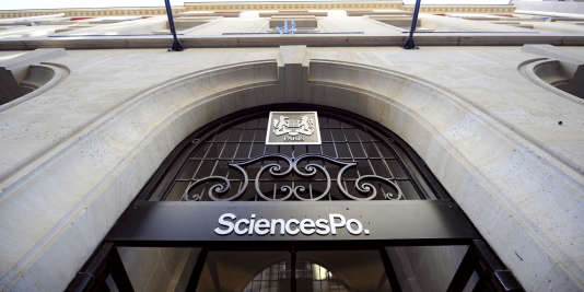 L'entrée de Sciences-Po, à Paris.