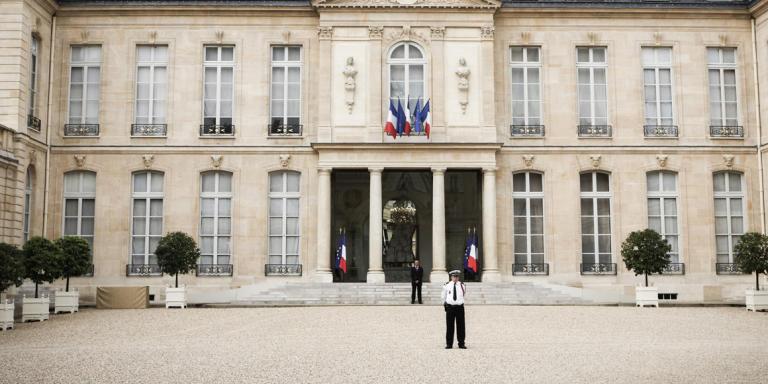 La cour du Palais de l'Elysée. Mercredi 27 juin 2012.