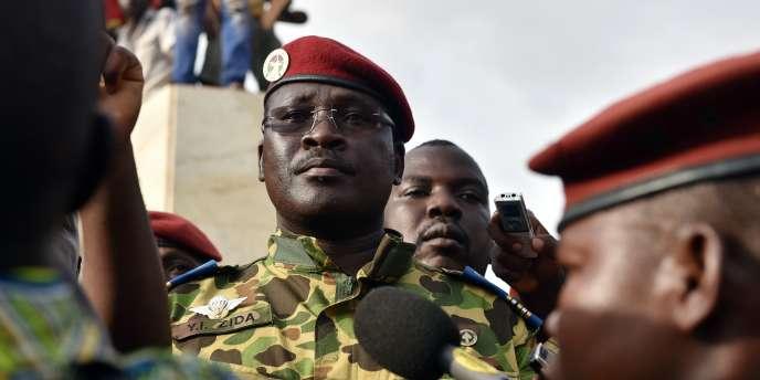 Le lieutenant-colonel Zida, le 31 octobre à Ouagadougou.