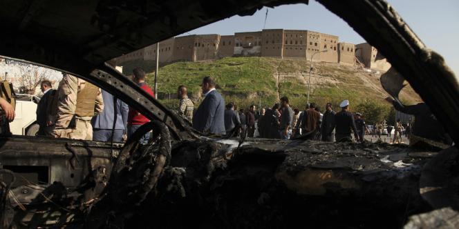 Un attentat-suicide a fait quatre morts à Erbil, le 19 novembre.