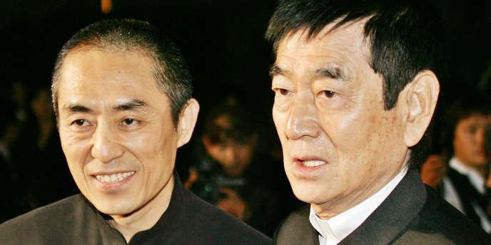 Ken Takakura (à droite), en octobre 2005 à Tokyo.