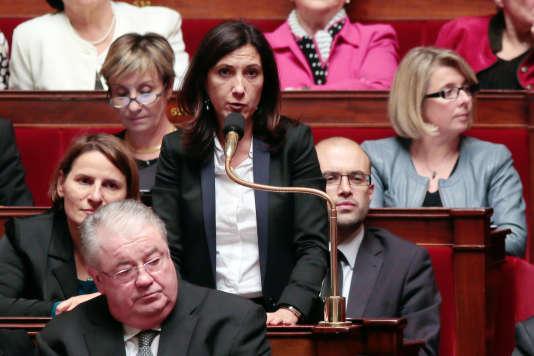 La député Sandrine Mazetier (PS, Paris) à l'Assemblée nationale, fin 2013.
