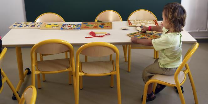 Un enfant dans une classe, à Marseille, le 2 septembre.