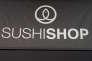 Photo du logo de Sushi Shop au salon Franchise Expo, porte de Versailles à Paris le 16 mars 2010.
