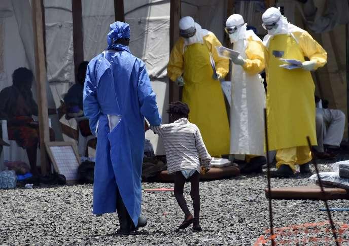 Le centre de traitement de MSF à Monrovia (Liberia), en septembre 2014, pendant l'épidémie d'Ebola.
