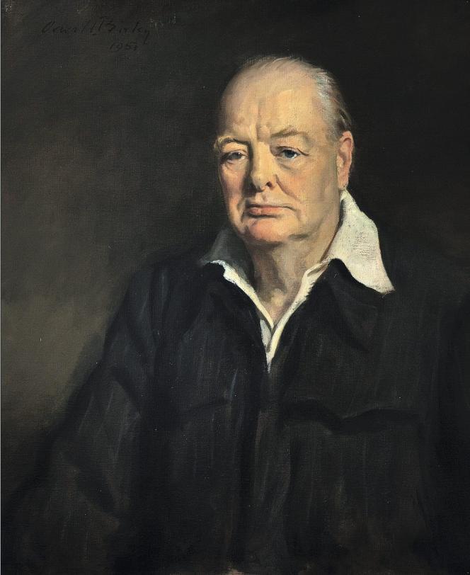Ce portrait de sir Winston Churchill était le tableau préféré de Mary Soames, la fille de l'ex-premier ministre britannique. Il sera mis en vente comme le reste de sa collection le 17 décembre.