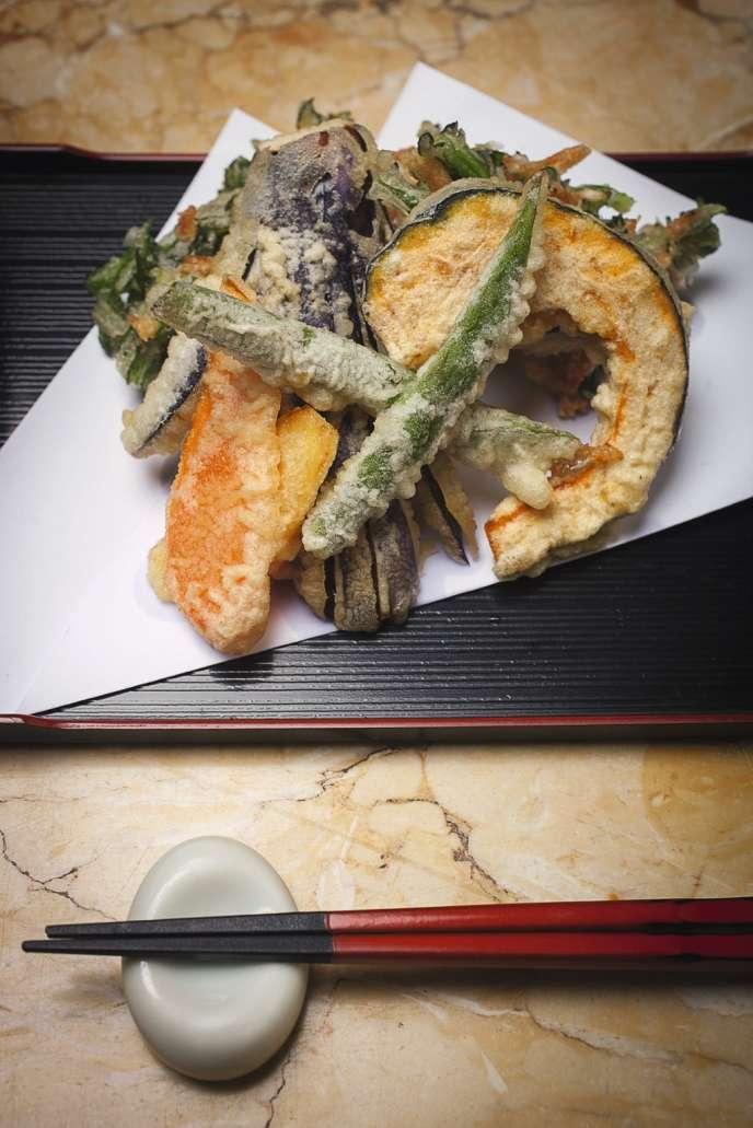 Les tempuras d'Asafumi Yamashita.