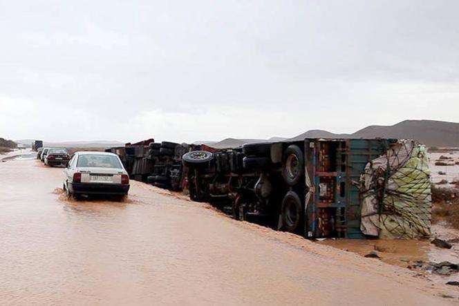 Des intempéries exceptionnelles ont frappé le sud du Maroc, aux portes du Sahara.
