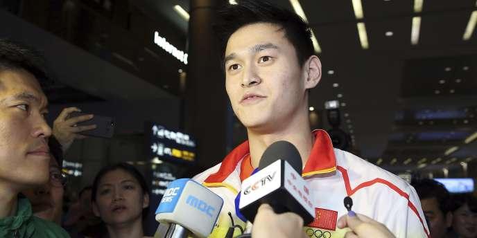 Sun Yang, ici le 16 septembre 2014 aux Jeux asiatiques d'Incheon.