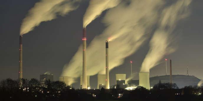 Une centrale à charbon d'E.ON en Allemagne, en novembre 2014.