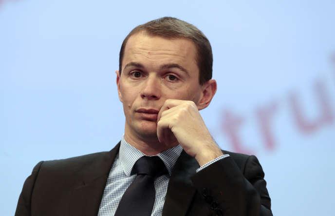 Olivier Dussopt, au Congrès des maires de France, à Paris, le 20 novembre.