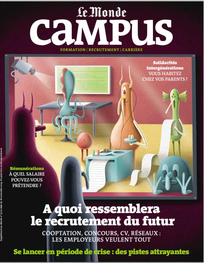 Couverture du semestriel du Monde-Campus de Novembre 2014.