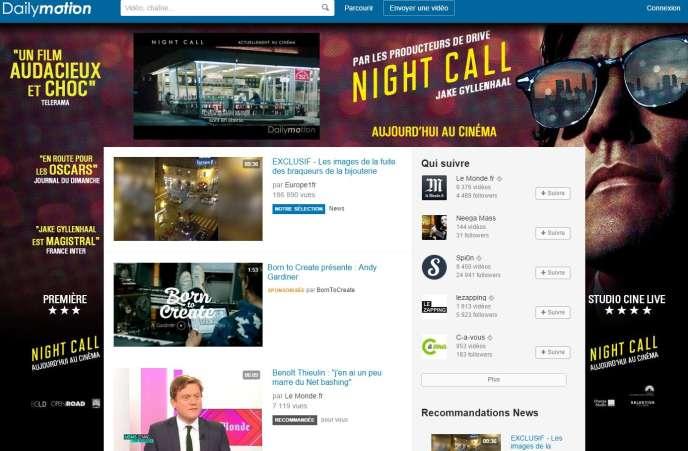 Capture d'écran du site Dailymotion, mercredi 26 novembre.