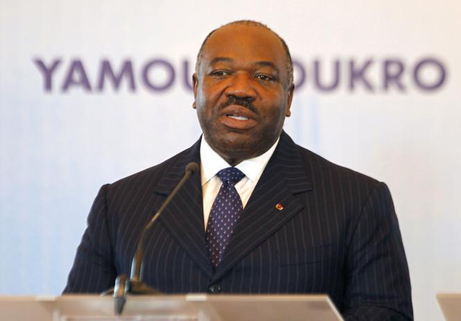 Ali Bongo, le président gabonais, en 2014.