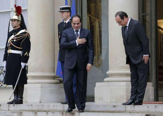 Le président égyptien Abdel Fattah al-Sissi a entamé mercredi 26 novembre une visite d'Etat de deux jours en France.