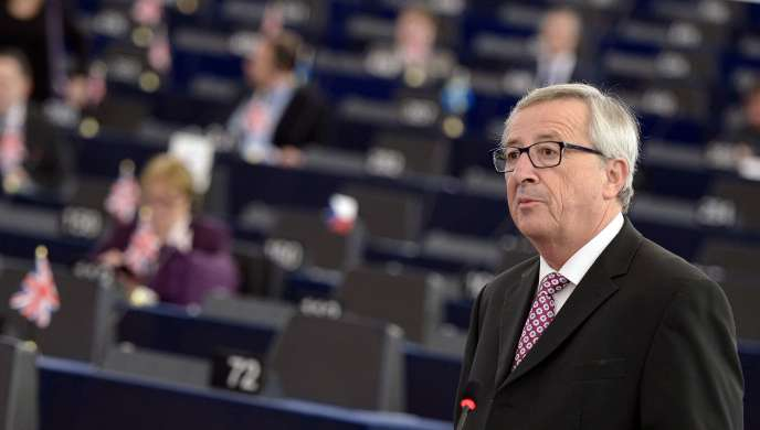 Jean-Claude Juncker à Strasbourg, le 26 novembre.