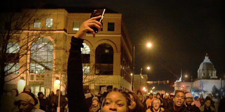 A Minneapolis, lors d'une manifestation après l'annonce du non-lieu pour le policier qui a tué Michael Brown.