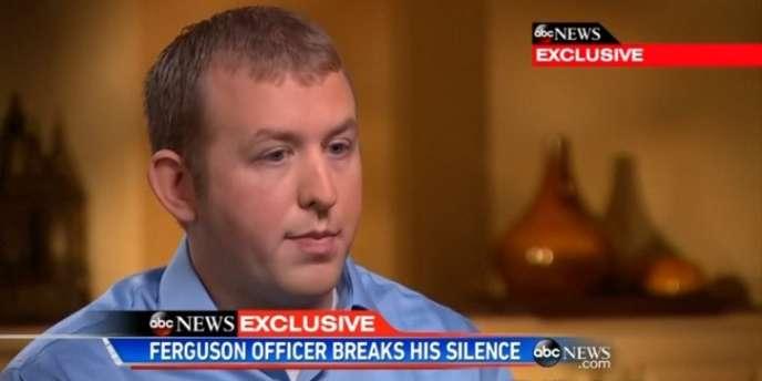 Darren Wilson, l'officier qui a tué Michael Brown à Ferguson et déclenché une vague de protestations aux Etats-Unis.