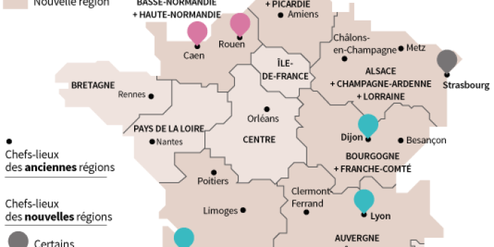 La Carte A 13 Regions Definitivement Adoptee