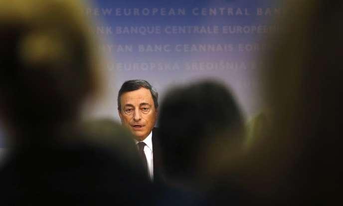 Le président de la Banque centrale européenne, Mario Draghi, le 4 septembre à Francfort.