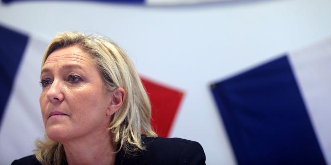 Marine Le Pen à Châlons-en-Champagne, en novembre.