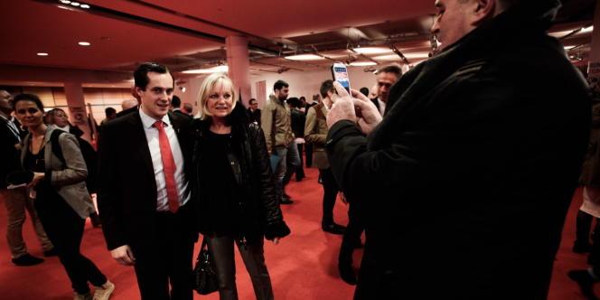 Nicolas Bay, le nouveau secrétaire général du Front national, le 29 novembre 2014, lors du congrès du parti à Lyon.