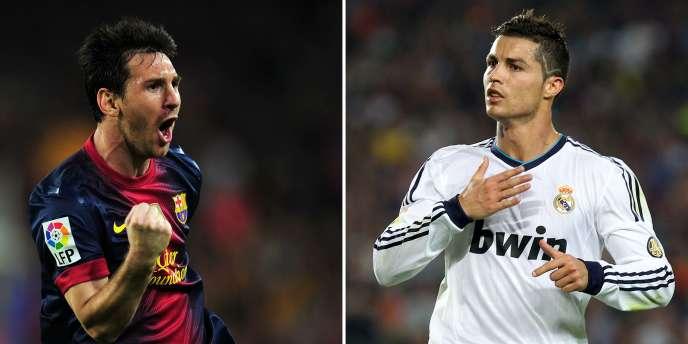 Le Barcelonais Lionel Messi face au Madrilène Cristiano Ronaldo.
