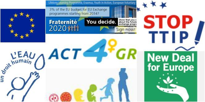 Des initiatives citoyennes européennes.
