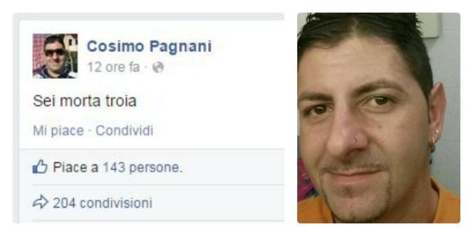 Capture d'écran de la page Facebook de Cosimo Pagnani, où l'on pouvait lire, dimanche 30 novembre 2014 :