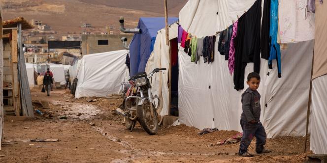Un enfant syrien dans un camp de réfugiés dans l'est du Liban, le23octobre2014.