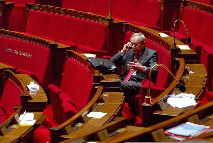Jacques Barrot à l'Assemblée nationale en 2003.