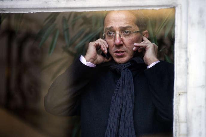 Faouzi Lamdaoui au QG de campagne de François Hollande, le 23 novembre 2012.