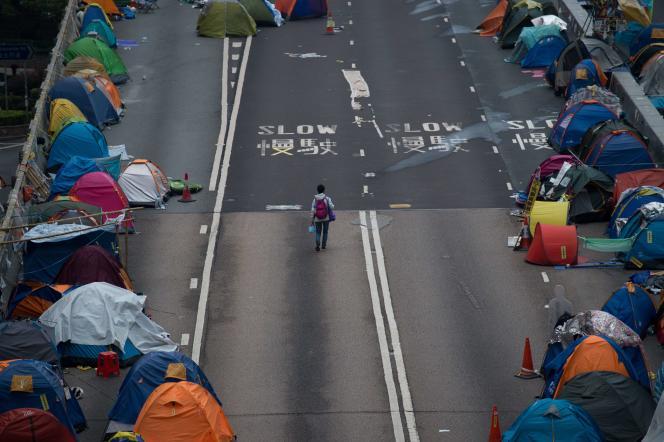 Le site d'Admiralty, à Hongkong, le 3 décembre 2014.