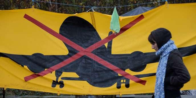 Bannière contre le chantier de Notre-Dame-des-Landes.