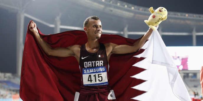 Le Qatari Mohamad Al-Garni, ici lors des Jeux asiatiques d'Incheon, le 27 septembre.