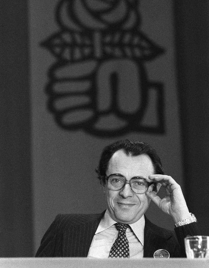 Michel Rocard, lors du congrès du PS de 1979.